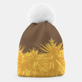 Miniature de image de Mustard yucca leaves on toffee background  Beanie, Live Heroes