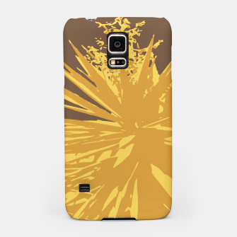 Miniaturka Mustard yucca leaves on toffee background  Samsung Case, Live Heroes