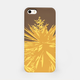 Miniaturka Mustard yucca leaves on toffee background  iPhone Case, Live Heroes