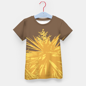Thumbnail image of Mustard yucca leaves on toffee background  Kid's t-shirt, Live Heroes