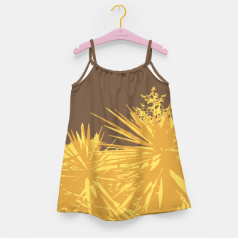 Thumbnail image of Mustard yucca leaves on toffee background  Girl's dress, Live Heroes