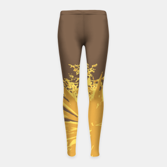 Miniature de image de Mustard yucca leaves on toffee background  Girl's leggings, Live Heroes