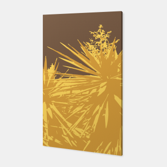 Thumbnail image of Mustard yucca leaves on toffee background  Canvas, Live Heroes