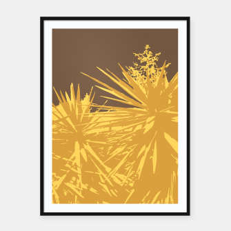 Miniature de image de Mustard yucca leaves on toffee background  Framed poster, Live Heroes