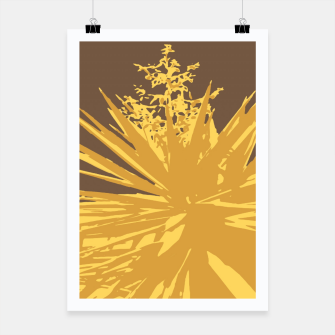 Miniaturka Mustard yucca leaves on toffee background  Poster, Live Heroes