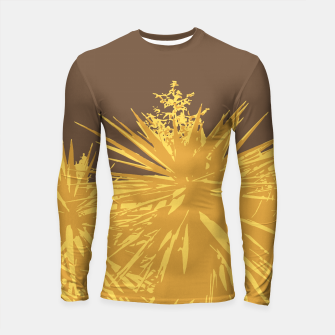 Miniature de image de Mustard yucca leaves on toffee background  Longsleeve rashguard , Live Heroes