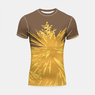 Miniature de image de Mustard yucca leaves on toffee background  Shortsleeve rashguard, Live Heroes