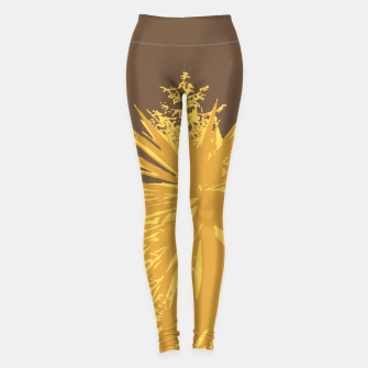 Thumbnail image of Mustard yucca leaves on toffee background  Leggings, Live Heroes
