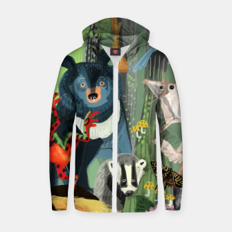 Thumbnail image of Ussuriland Sudadera con capucha y cremallera , Live Heroes
