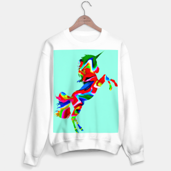 Miniature de image de Watercolor Unicorn-Light blue Sudadera regular, Live Heroes