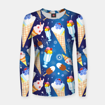 Miniature de image de Ice Cream Women sweater, Live Heroes