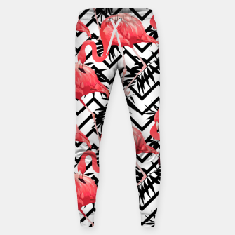 Thumbnail image of Zig Zag Flamingos Sweatpants, Live Heroes