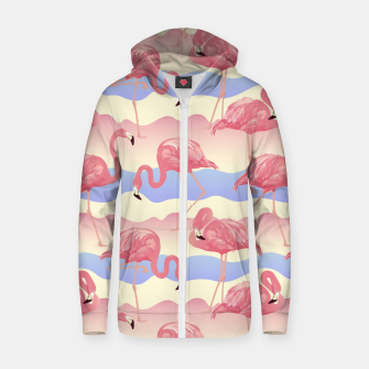 Thumbnail image of Flamingos II Zip up hoodie, Live Heroes