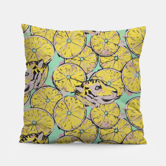 Thumbnail image of Lemon Tiger Pillow, Live Heroes