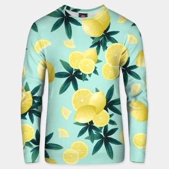 Lemon Twist Vibes #1 #tropical #fruit #decor #art Unisex sweatshirt obraz miniatury