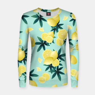 Lemon Twist Vibes #1 #tropical #fruit #decor #art Frauen sweatshirt obraz miniatury