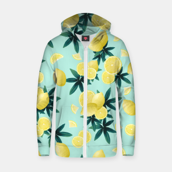 Miniaturka Lemon Twist Vibes #1 #tropical #fruit #decor #art Reißverschluss kapuzenpullover, Live Heroes