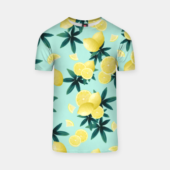 Lemon Twist Vibes #1 #tropical #fruit #decor #art T-Shirt obraz miniatury