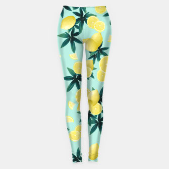 Miniaturka Lemon Twist Vibes #1 #tropical #fruit #decor #art Leggings, Live Heroes