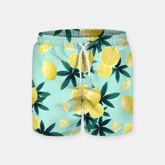 Lemon Twist Vibes #1 #tropical #fruit #decor #art Badeshorts obraz miniatury