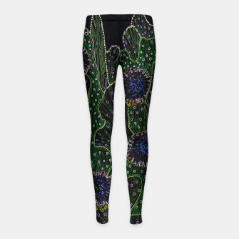 Thumbnail image of Blooming Cactus, Black & Neon Girl's leggings, Live Heroes