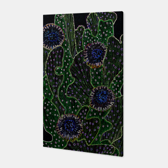 Thumbnail image of Blooming Cactus, Black & Neon Canvas, Live Heroes