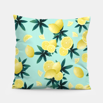 Thumbnail image of Lemon Twist Vibes #1 #tropical #fruit #decor #art Kissen, Live Heroes