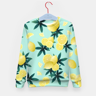 Lemon Twist Vibes #1 #tropical #fruit #decor #art Kindersweatshirt obraz miniatury