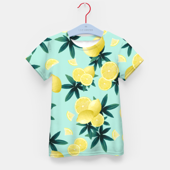 Lemon Twist Vibes #1 #tropical #fruit #decor #art T-Shirt für kinder obraz miniatury