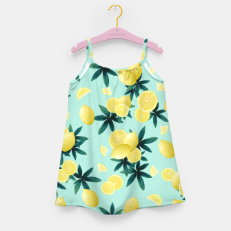 Miniaturka Lemon Twist Vibes #1 #tropical #fruit #decor #art Mädchenkleid, Live Heroes