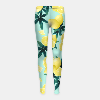 Lemon Twist Vibes #1 #tropical #fruit #decor #art Kinder-Leggins obraz miniatury