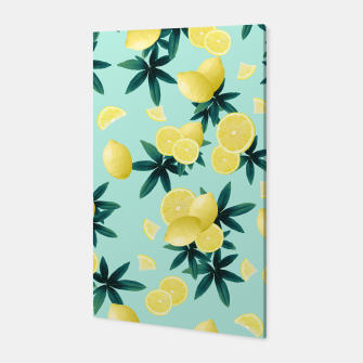 Thumbnail image of Lemon Twist Vibes #1 #tropical #fruit #decor #art Canvas, Live Heroes