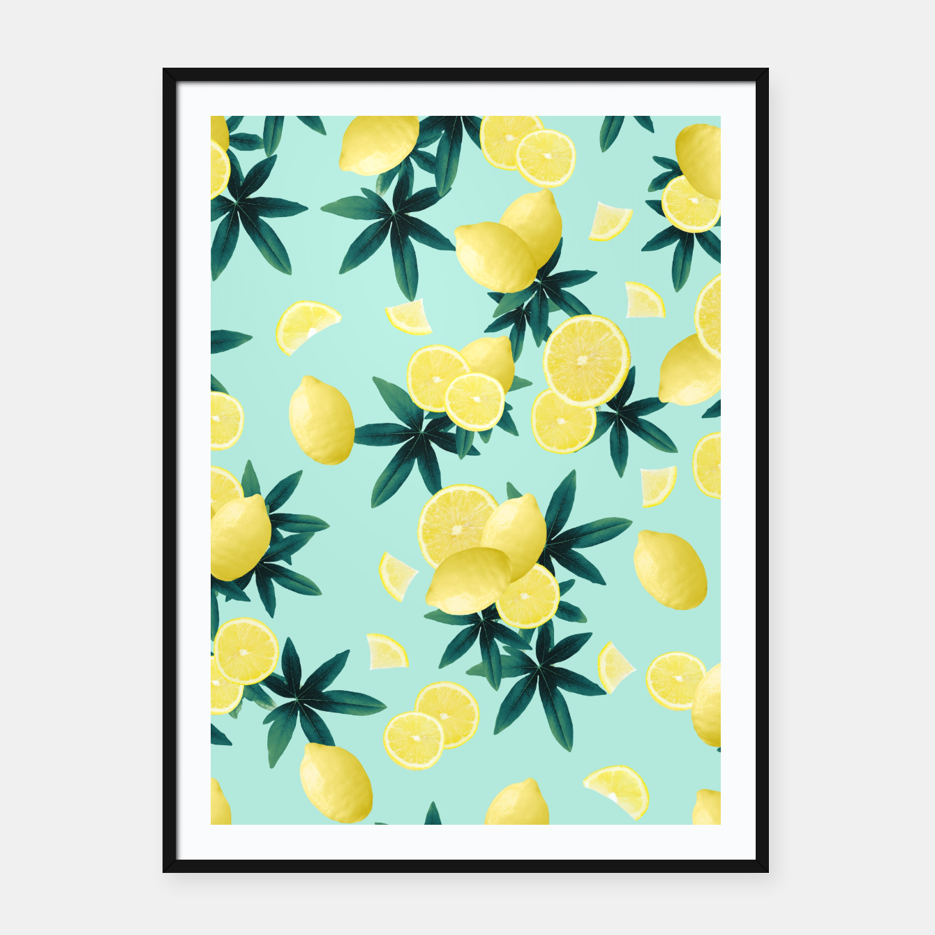 Zdjęcie Lemon Twist Vibes #1 #tropical #fruit #decor #art Plakat mit rahmen - Live Heroes