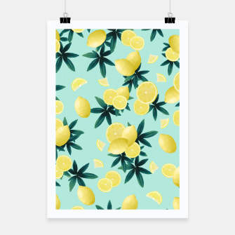 Lemon Twist Vibes #1 #tropical #fruit #decor #art Plakat obraz miniatury