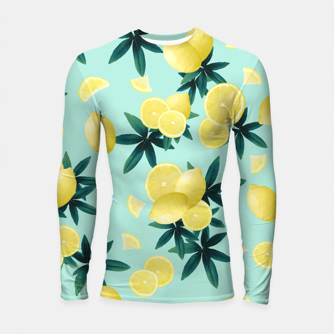 Zdjęcie Lemon Twist Vibes #1 #tropical #fruit #decor #art Longsleeve rashguard - Live Heroes