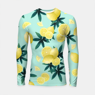 Lemon Twist Vibes #1 #tropical #fruit #decor #art Longsleeve rashguard obraz miniatury