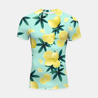 Lemon Twist Vibes #1 #tropical #fruit #decor #art Shortsleeve rashguard obraz miniatury