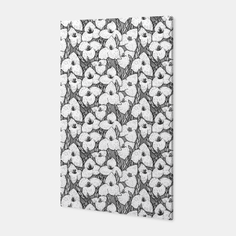 Puya Flowers Floral Botanical Pattern White Grey  Canvas thumbnail image