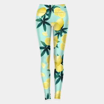 Lemon Twist Vibes #1 #tropical #fruit #decor #art Leggings obraz miniatury