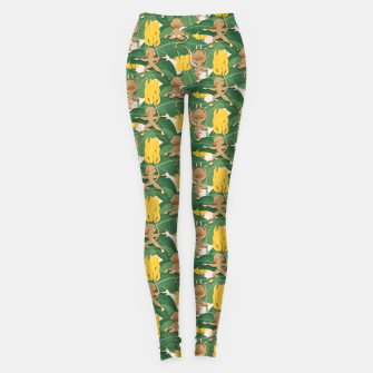 Thumbnail image of Mico Banana Yoga Leggings, Live Heroes