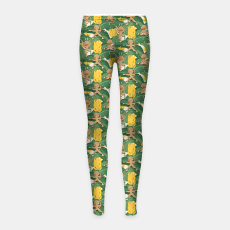 Thumbnail image of Mico Banana Yoga Leggings para niña, Live Heroes