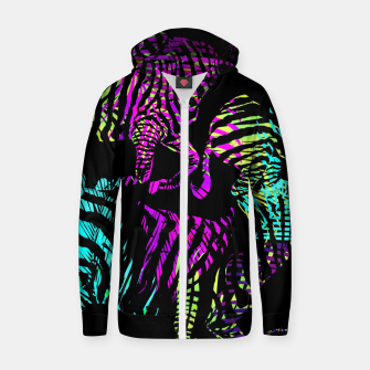 Thumbnail image of Modern abstract Animal Print Reißverschluss kapuzenpullover, Live Heroes