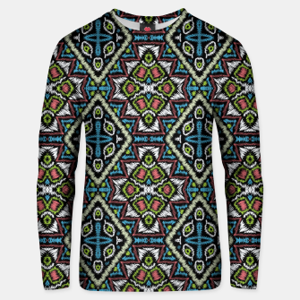 Thumbnail image of Seamless embroidery tribal ethno boho ornamental pattern background Unisex sweater, Live Heroes