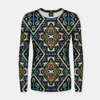 Thumbnail image of Seamless embroidery tribal ethno boho ornamental pattern background Women sweater, Live Heroes