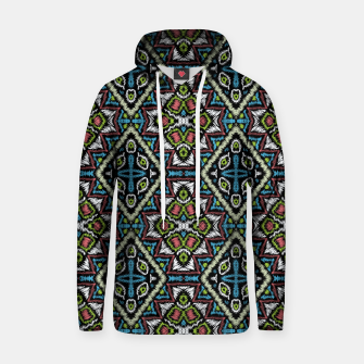 Thumbnail image of Seamless embroidery tribal ethno boho ornamental pattern background Hoodie, Live Heroes