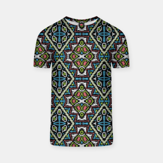 Thumbnail image of Seamless embroidery tribal ethno boho ornamental pattern background T-shirt, Live Heroes