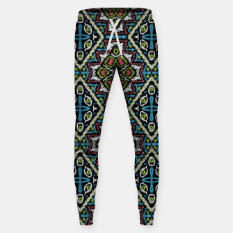 Thumbnail image of Seamless embroidery tribal ethno boho ornamental pattern background Sweatpants, Live Heroes