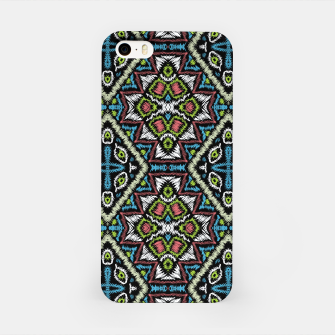 Thumbnail image of Seamless embroidery tribal ethno boho ornamental pattern background iPhone Case, Live Heroes