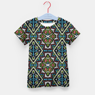 Thumbnail image of Seamless embroidery tribal ethno boho ornamental pattern background Kid's t-shirt, Live Heroes