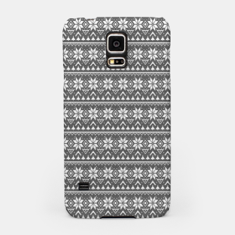 Miniaturka Christmas ornament black and white Samsung Case, Live Heroes